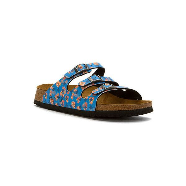 Birkenstock Florida  Sandals ($95) ❤ liked on Polyvore featuring shoes, sandals, women, strap sandals, strappy shoes, birkenstock, buckle shoes and buckle strap shoes
