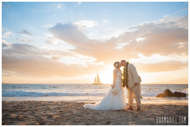 Stunning Sunset Photo After A Maui Beach Wedding Hawaii Coordinator Simple
