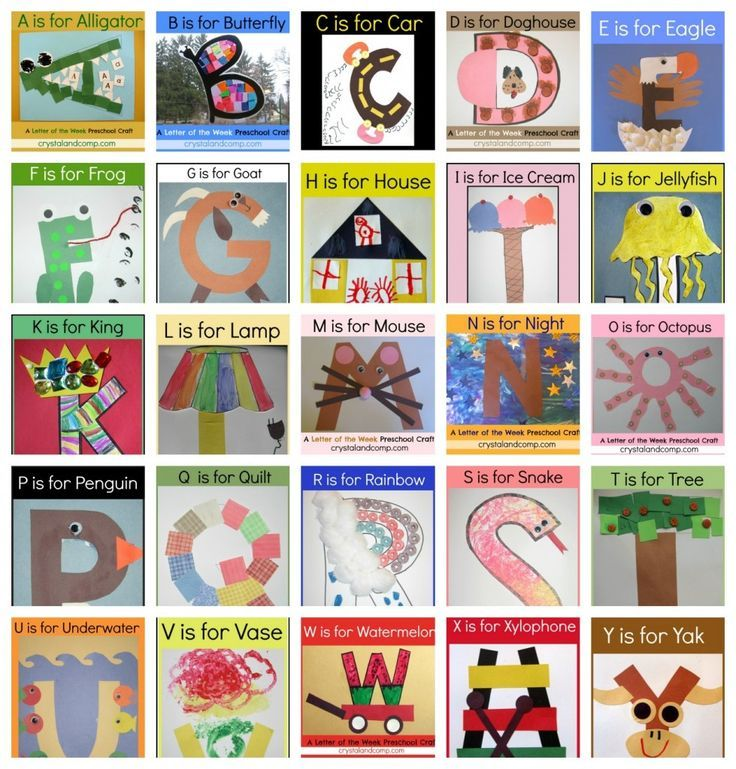 Letter of the Week Crafts for Preschoolers | Alphabet ...