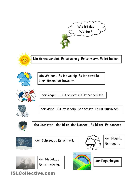 Wie ist das Wetter? | German, Language and German language