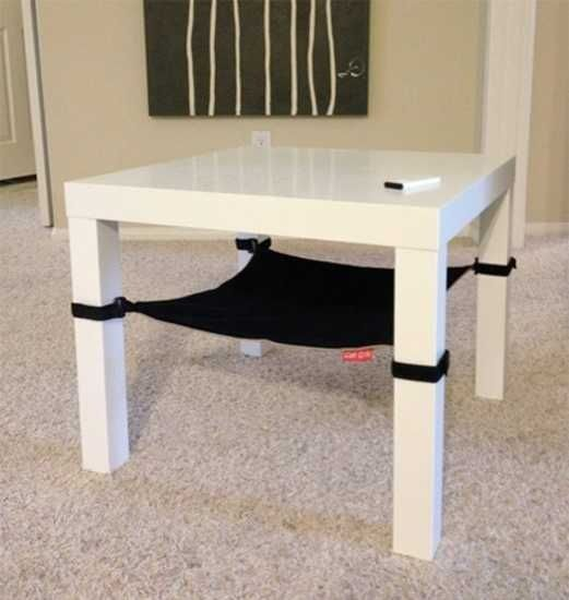 easily make an under table or under chair cat hammock with cloth and velcro easily make an under table or under chair cat hammock with cloth      rh   pinterest