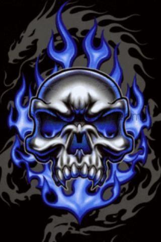 Cool Skull | blue skull - Bracifyer Bowie