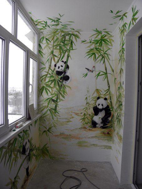 Mural balcon murales Pinterest Paredes pintadas, Murales y - murales con fotos