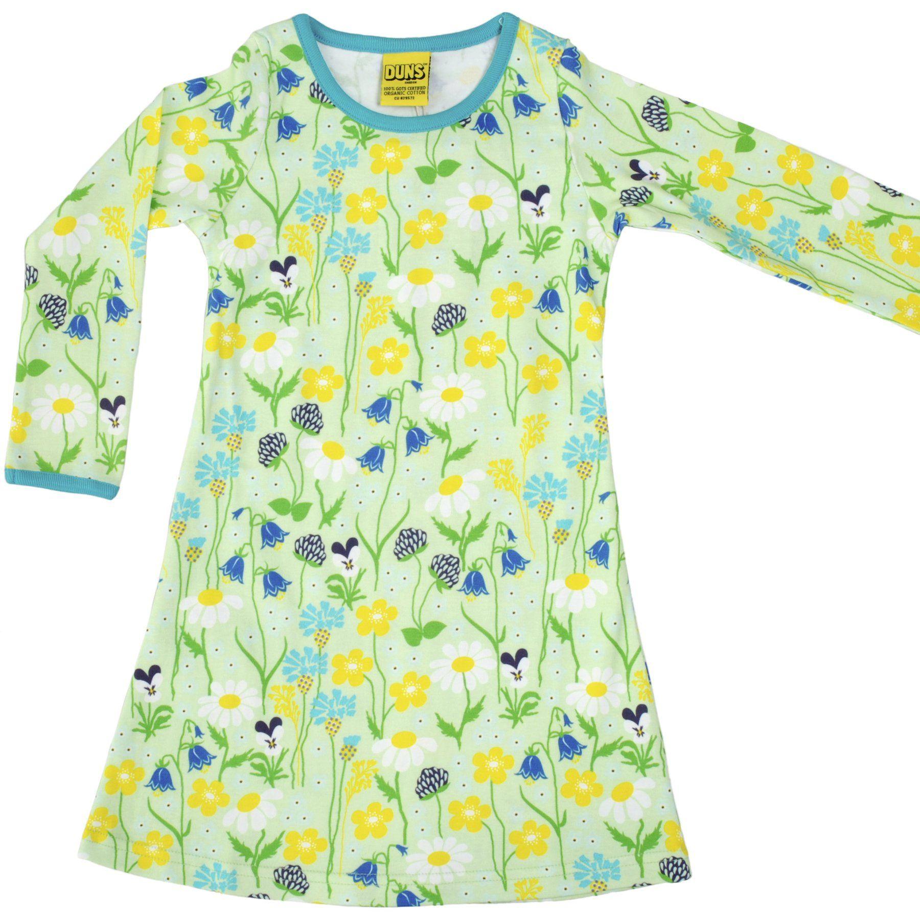 Dress l s Midsummer Flowers Green Organic by DUNS