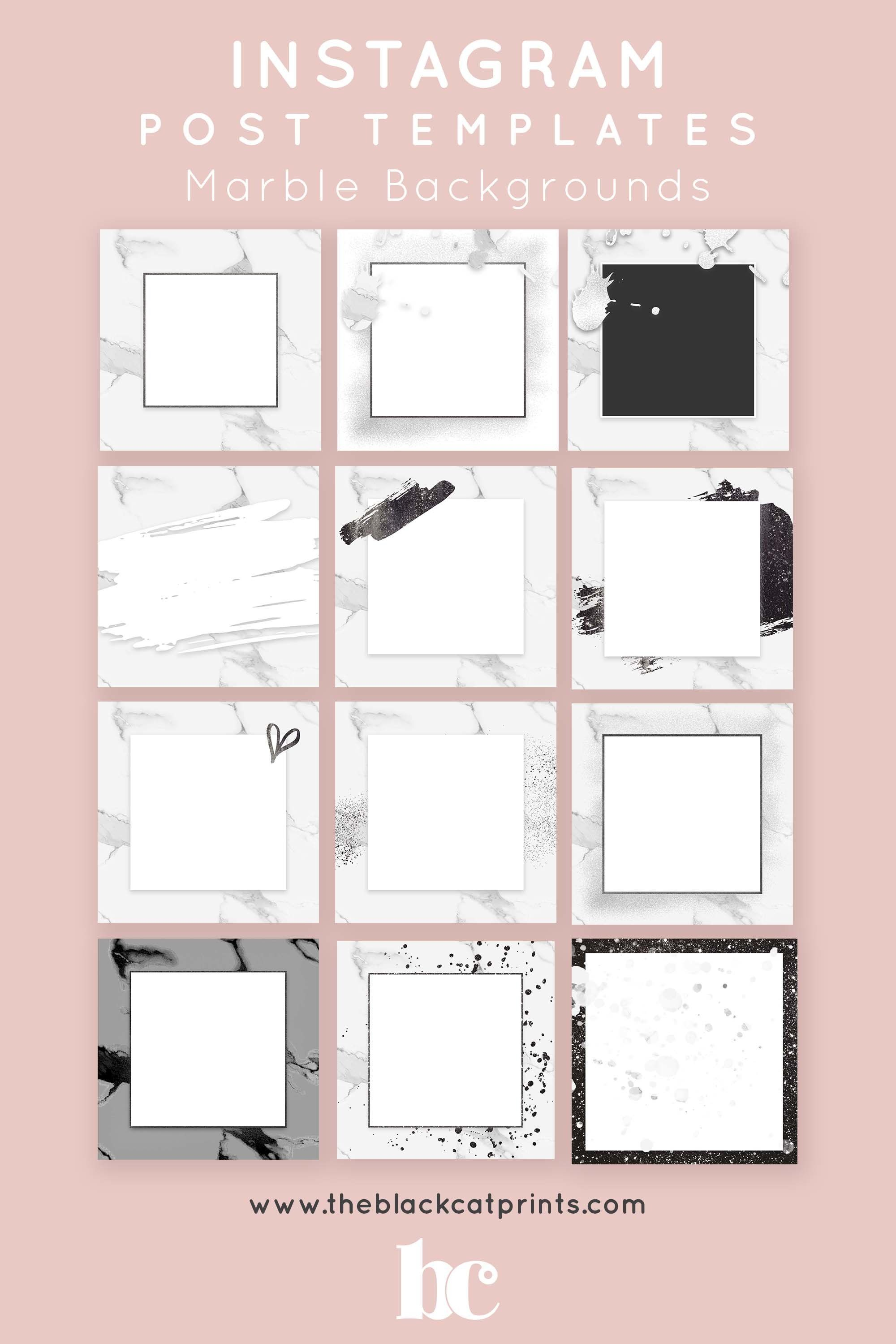 Black And White Marble Instagram Post And Story Templates 535867 Instagram Design Bundles In 2021 Instagram Template Design Instagram Design Instagram Posts