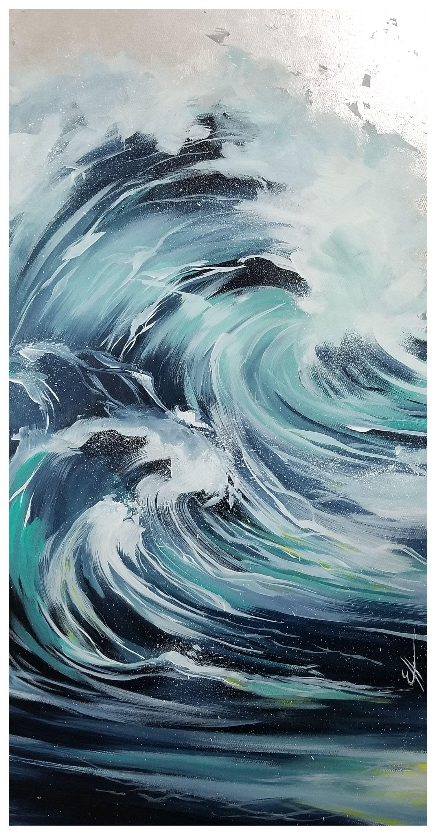 Wave Acrylic Art Ocean Waves Painting Ocean Wave Painting Ocean Painting