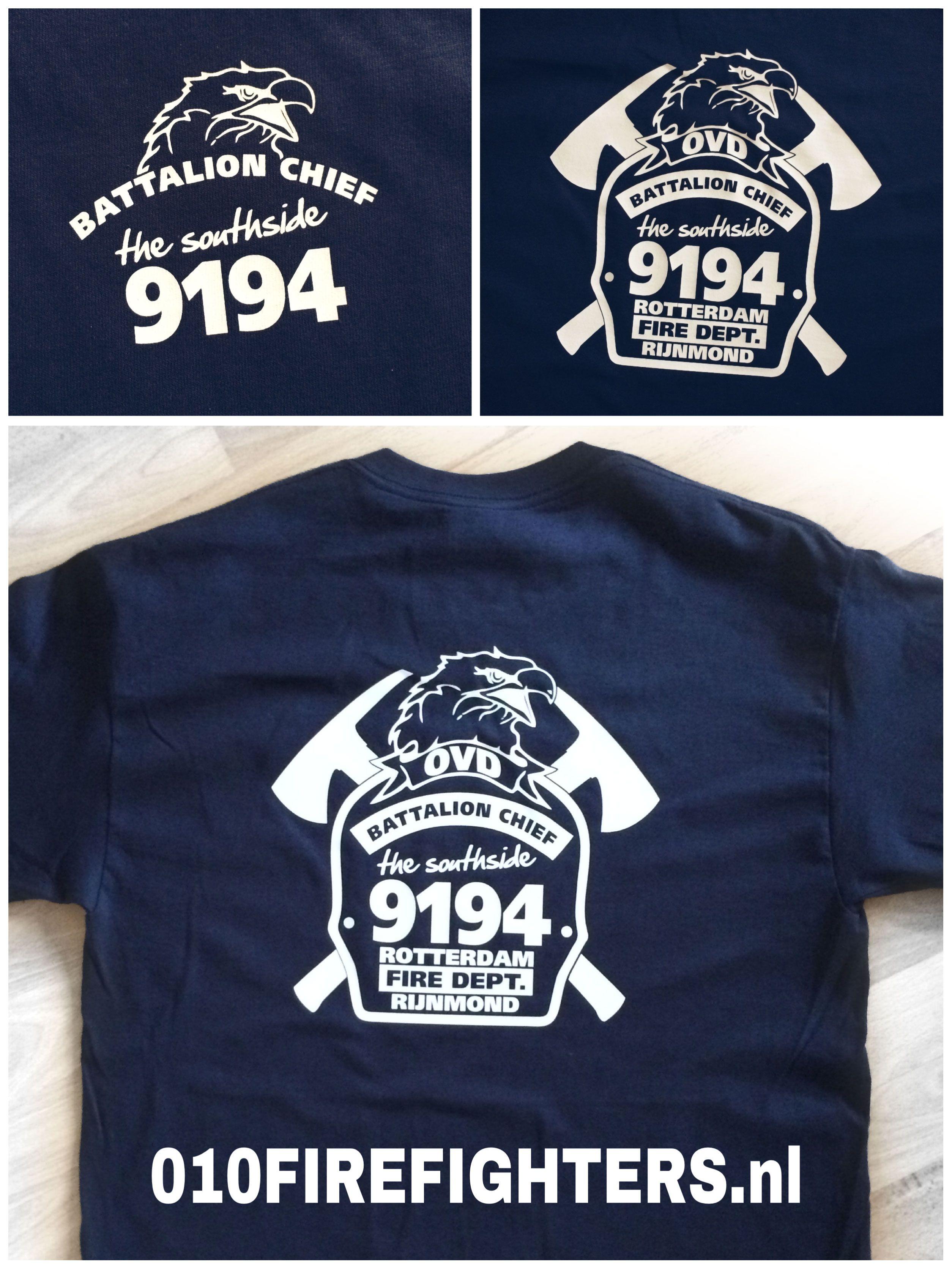 010FireFighters.nl | Firefighters Bodywear - Battalion Chief - OD 9194 Rotterdam Fire Department