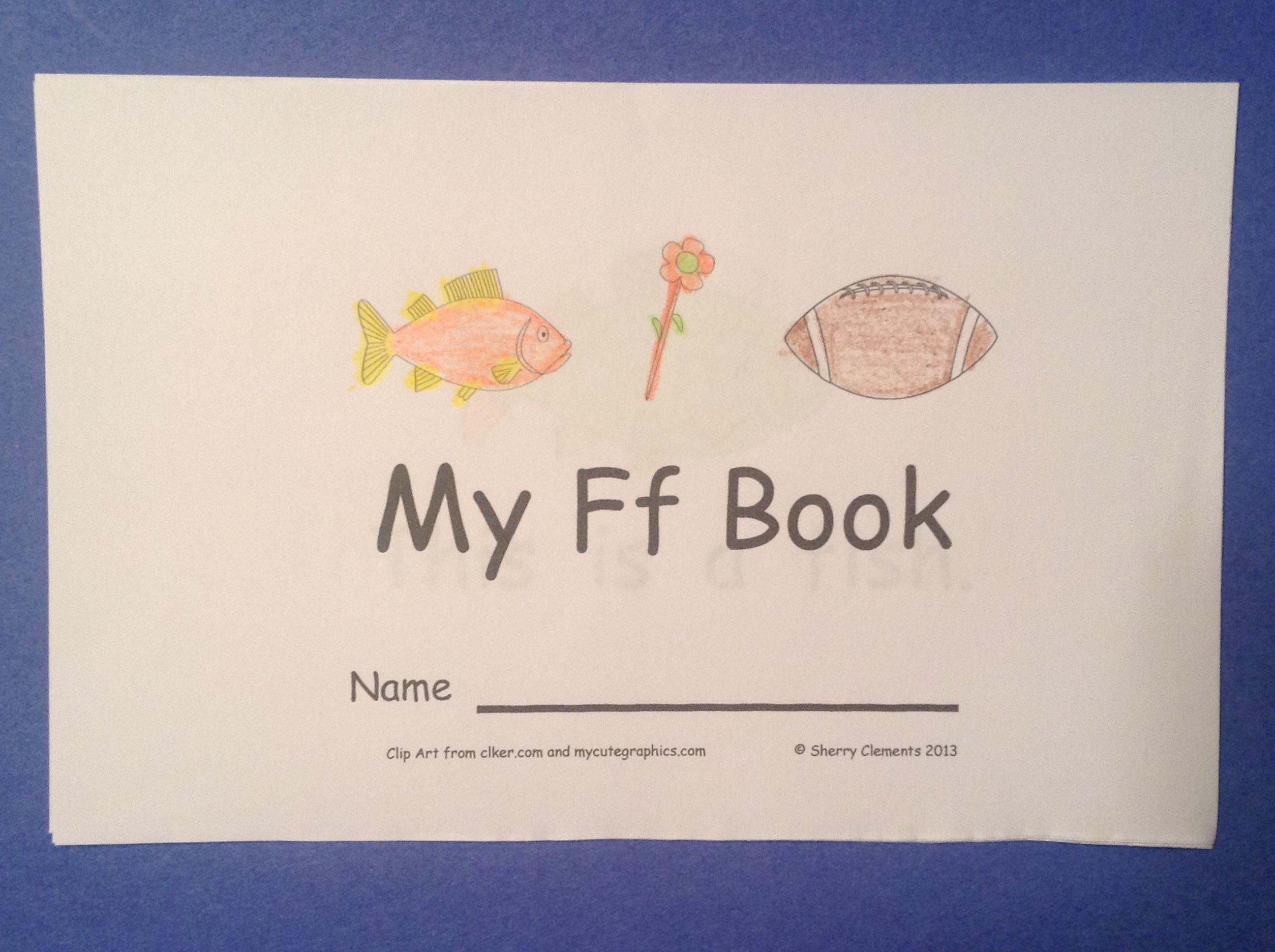 Alphabet Emergent Reader Letter F