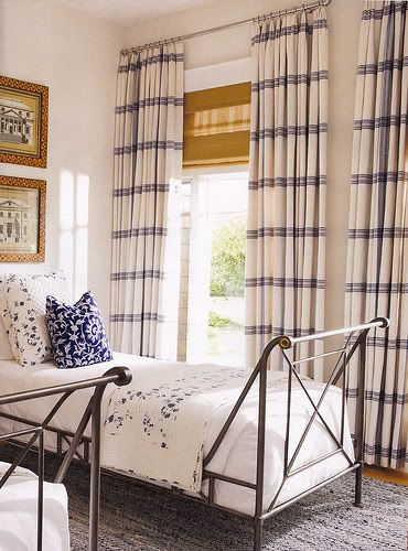 Blue and white bedroom -- interior design: Marshall Watson ...