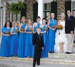 Convertible Bridesmaid Dress Azure Blue