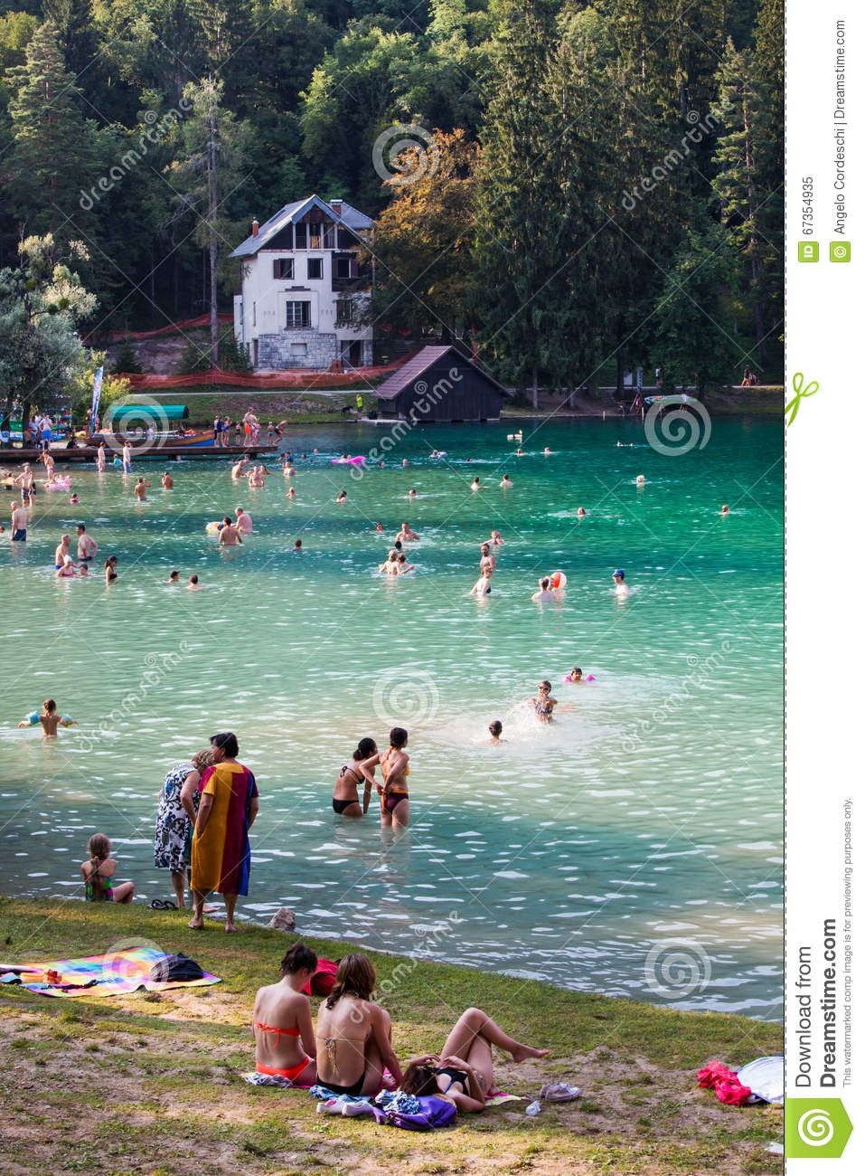 Lake, Nature And Leisure People Tourists. Bled, Slovenia - Download From Over 41 Million High Quality Stock Photos, Images, Vectors. Sign up for FREE today. Image: 67354935
