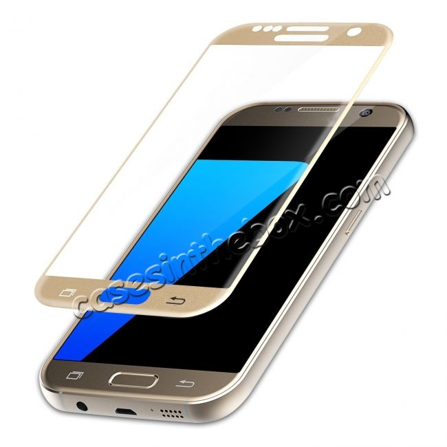 350ab6715a8 Curved 3D Tempered Glass Full Screen Screen Protector Film For Samsung  Galaxy S7 - Gold US$20.99