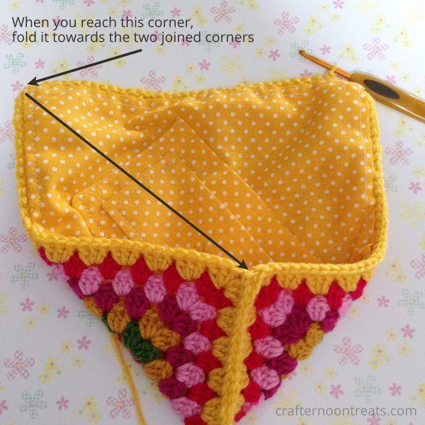 Join Side B Crochet Envelope Bag Free Tutorial Crafternoontreats