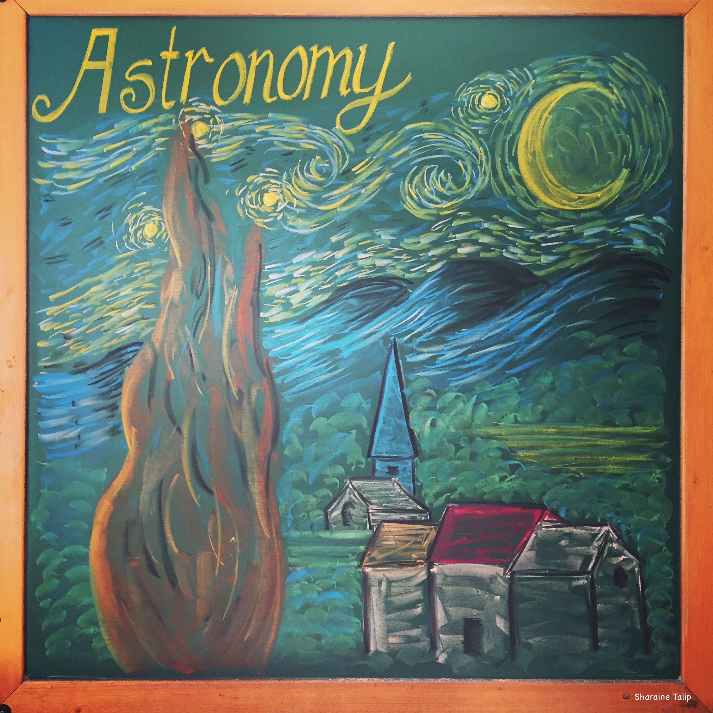 Astronomy Main Lesson Chalkboard Drawing 6th Grade