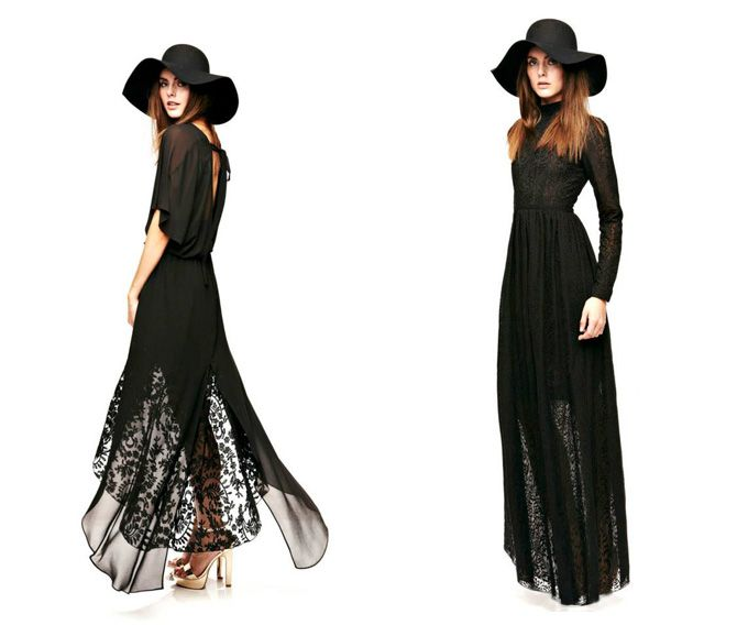 Black Long Dress Hat Odylyne Fall 2017 Collection Stevie Nicks Style