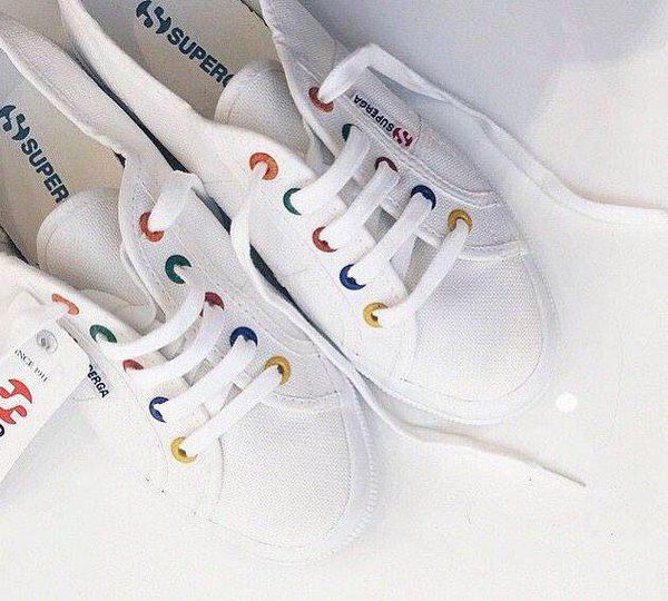 95d556e582d4a Superga 2750 White (Coloured Rivets) | Accessories.Nails.Shoes in ...