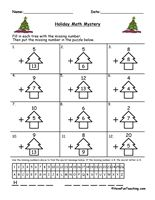 math worksheet : 1000 images about christmas worksheets on pinterest  christmas  : Christmas Maths Worksheet