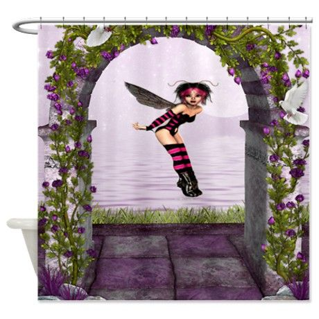 Fairy Fantasy Shower Curtain on CafePress.com