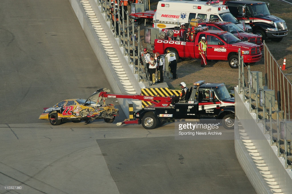 The biggest wreck of the day came with 16 laps to go, when