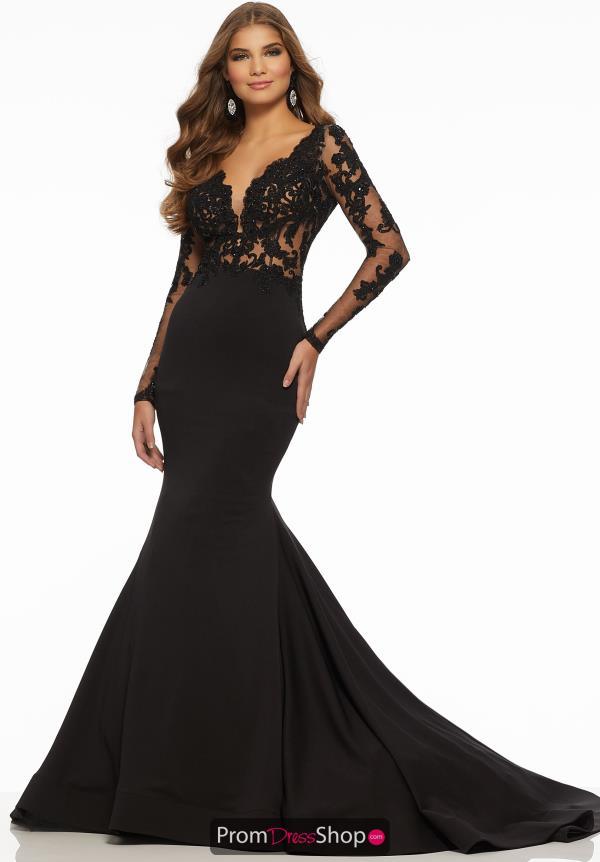 Mori Lee VM 71022 V-Neck Asymmetrical Dress | Bride dress