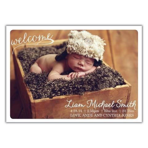 Welcome Birth Announcement