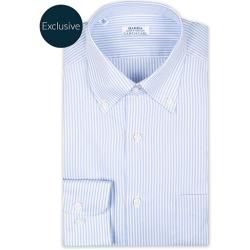 Photo of Barba Napoli Slim Fit Oxford Button Down Shirt Blue Striped Barba