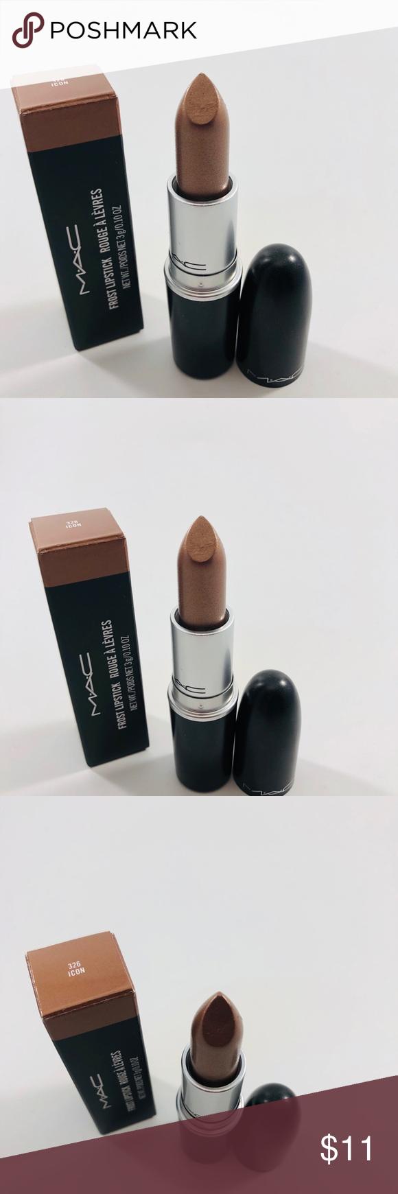 MAC Frost Lipstick 326 Icon Frosted lipstick, Lipstick