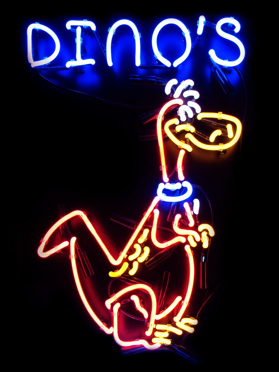 dinos • neon Custom neon signs, Cool neon signs
