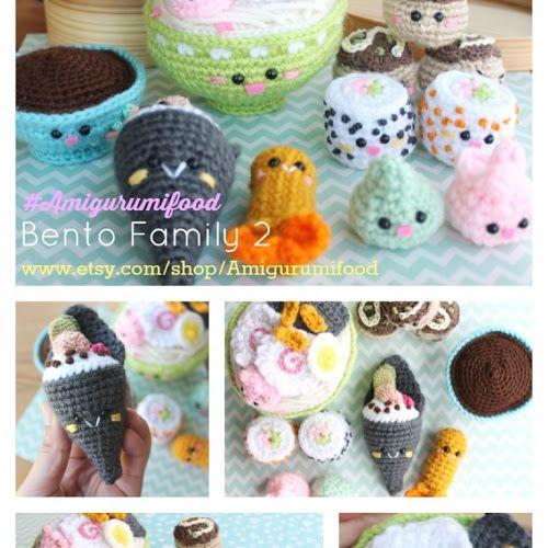 Bento Sushi pattern Crochet!! Amigurumi Food | Hooker Please ...
