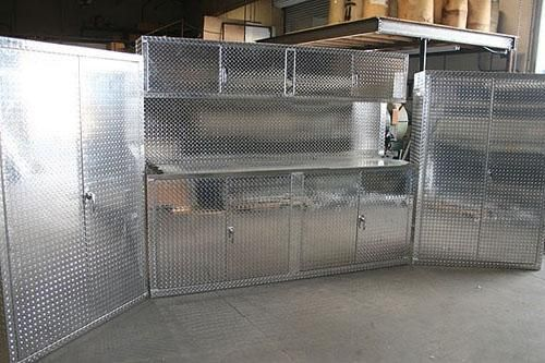 Diamond Plate Garage Cabinets Made From Real Aluminum