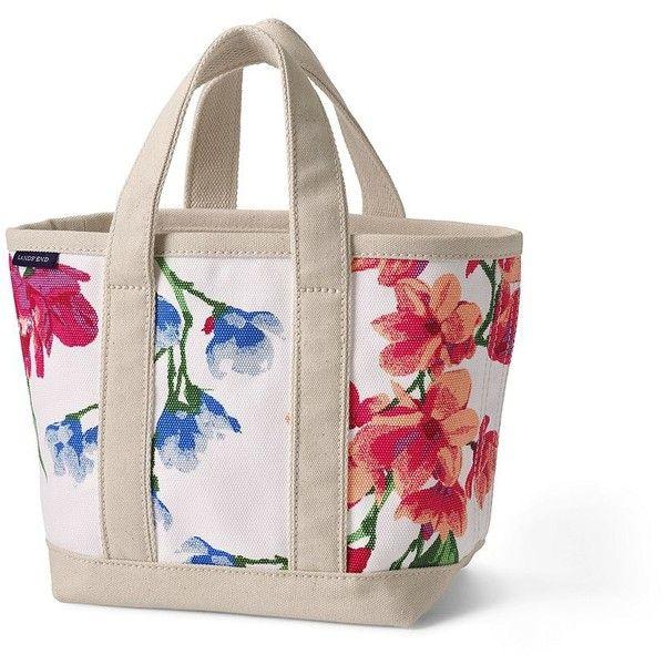 Small Open Top Canvas Tote Bag Lands End CSfXAYQMe