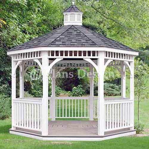 12 Classic Octagon Gazebo Do It Yourself Plans Material List Included 10012 Outdoor Pergola Gazebo Plans Backyard Gazebo