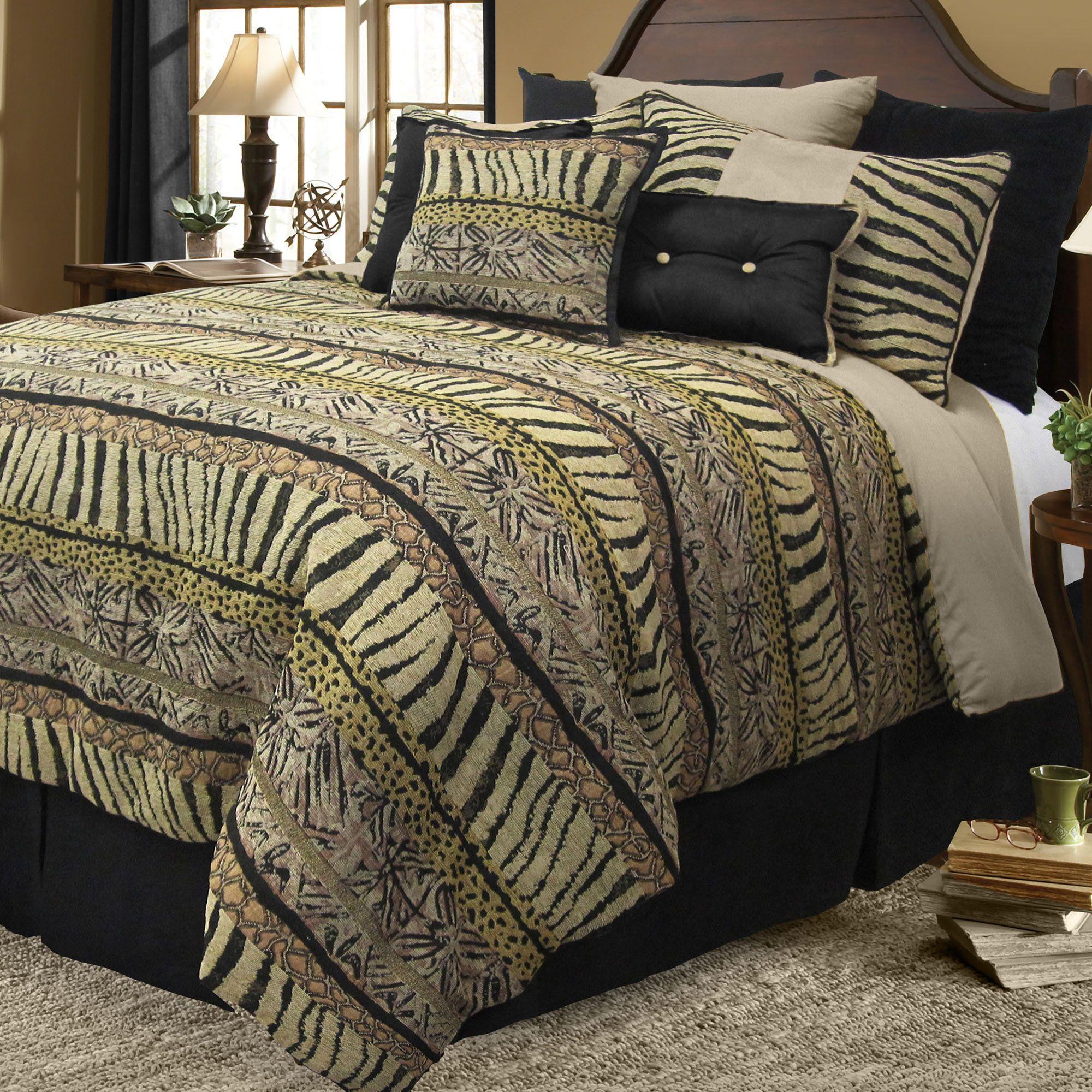 Animal print bedding zebra giraffe print bedding stuff to buy pinterest - Cheetah bedspreads ...