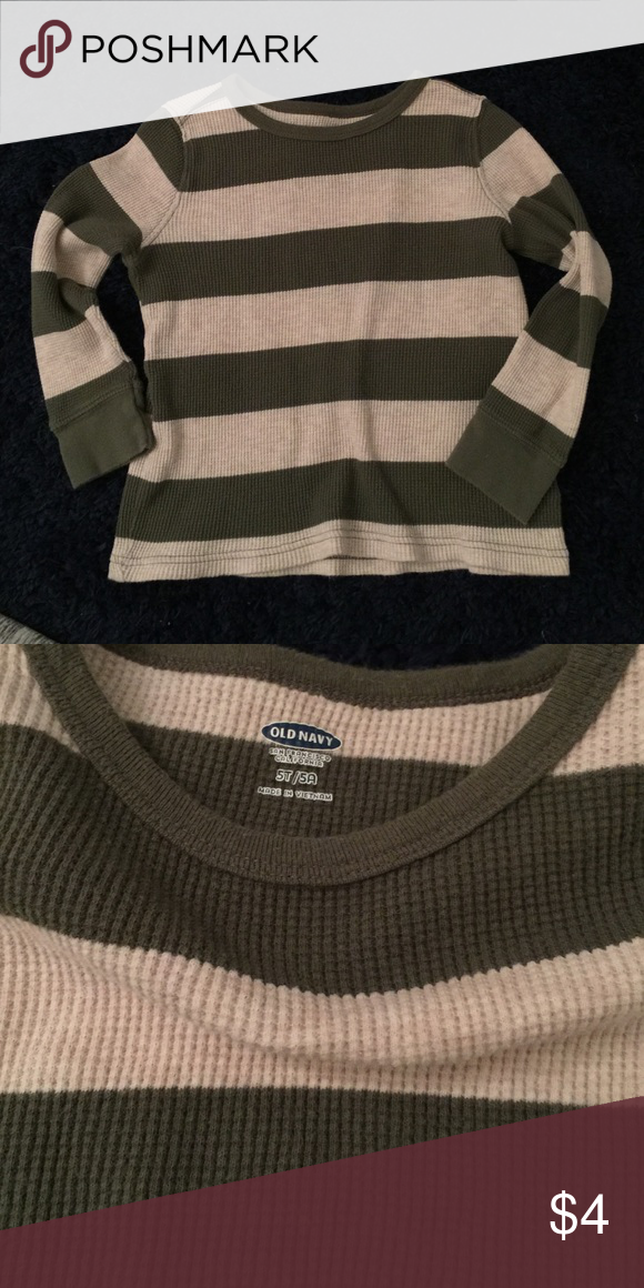 Thermal Olive and cream colored thermal Old Navy Shirts & Tops Tees - Long Sleeve