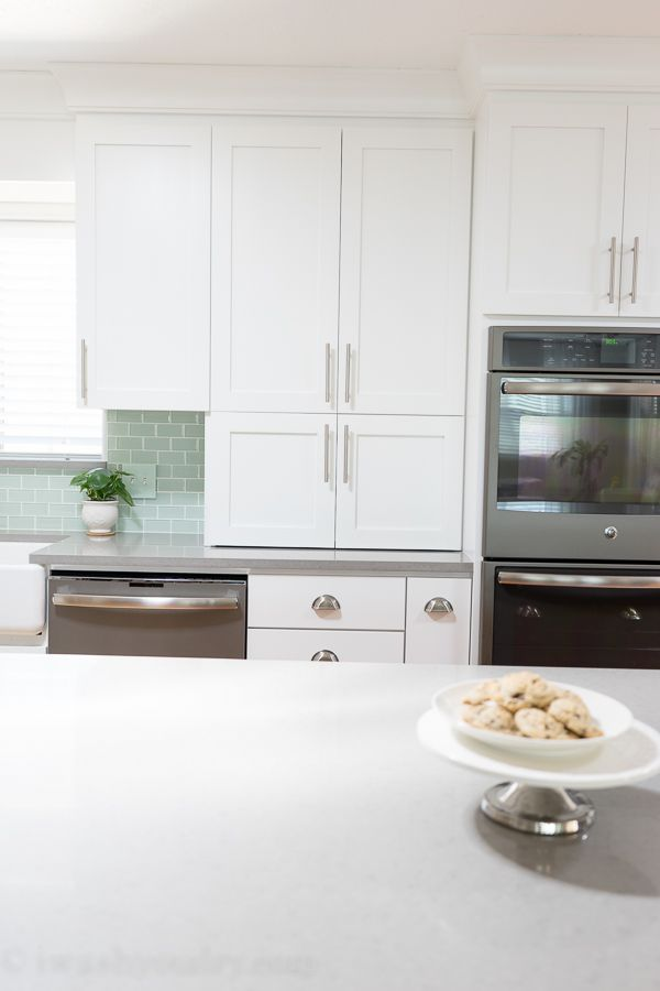 Kitchen Reveal {Before and After Photos} | Pinterest | Shaker style ...