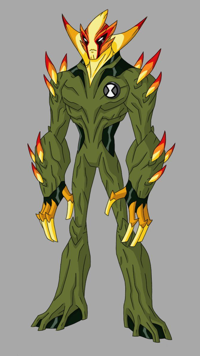 Swampfire redesign by elmike9 | ben ten 10000 | Бен 10 ...