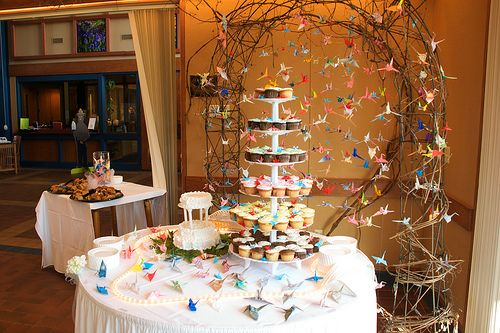 Aly Anese Brides Used To Fold A Thousand Paper Cranes Origami Decorationwedding