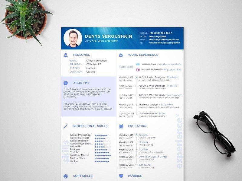 Free Modern Sketch Resume Template For Job Seeker Aplikasi Cv Kreatif Desain Cv