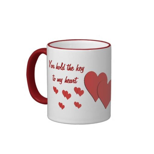 YOU HOLD THE KEY TO MY HEART MUG. The perfect gift for your girlfriend or boyfriend.