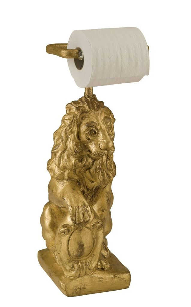 Medieval Lion Free Standing Toilet Paper Holder In 60