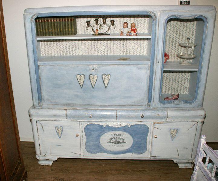 shabby chic schreibschrank schrank vitrine herz shabby and diy design. Black Bedroom Furniture Sets. Home Design Ideas