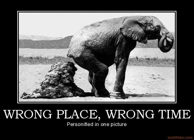 modernization- wrong place wrong time