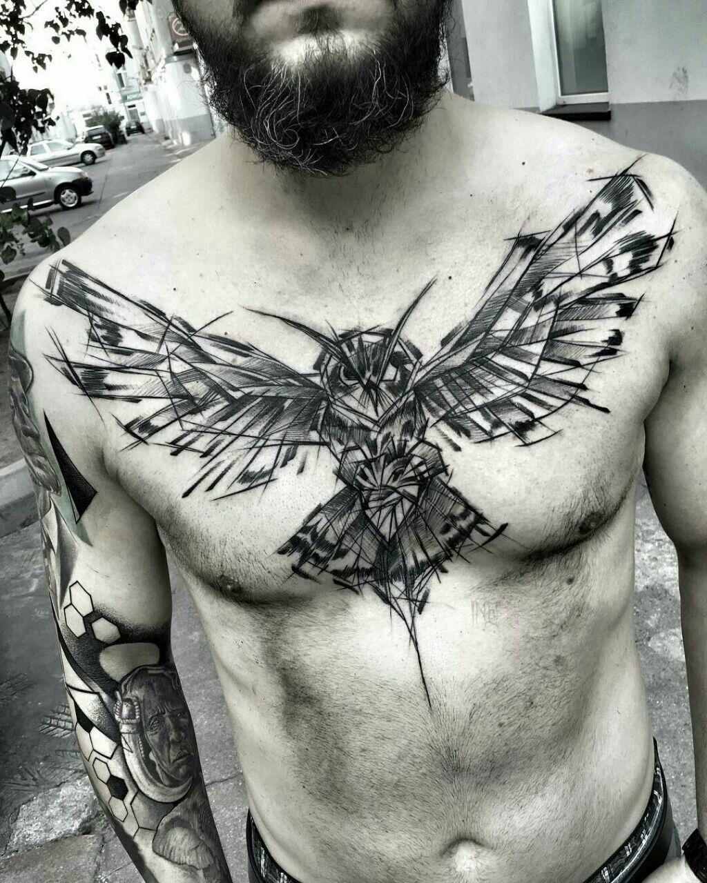 Buho Sketch Style Tattoos Polish Tattoos Tattoos