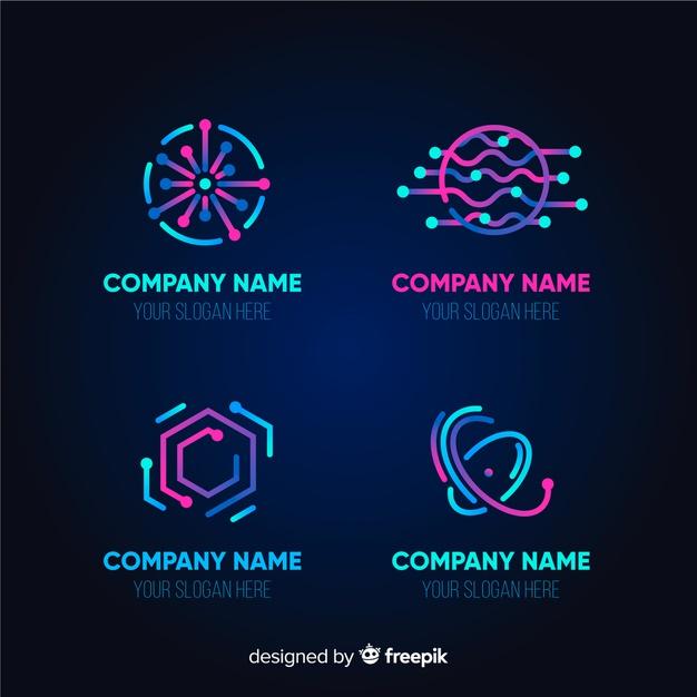 Baixe Coleção De Modelo De Logotipo De Tecnologia