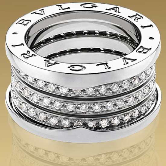 check out this ring by bulgari in 18kt white gold with pav diamonds pavejewels