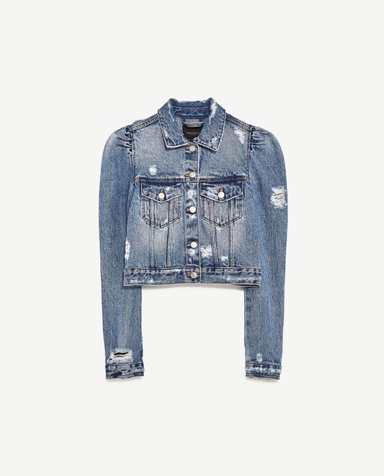 db1a8e6877 DENIM JACKET WITH PUFF SLEEVES from Zara | >> My Style << in 2019 ...