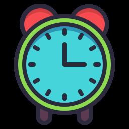 Academic Cap Graduation School Square Icon Time Timer Icon Timer