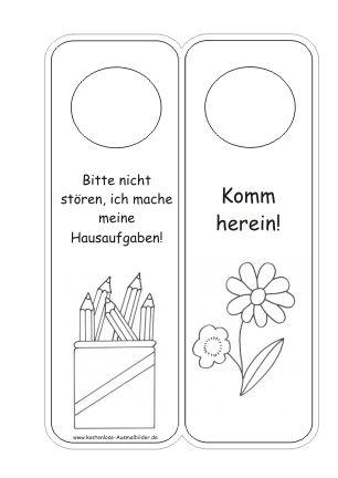 Türschilder Kinderzimmer Vorlagen | Türschilder ausmalen ...