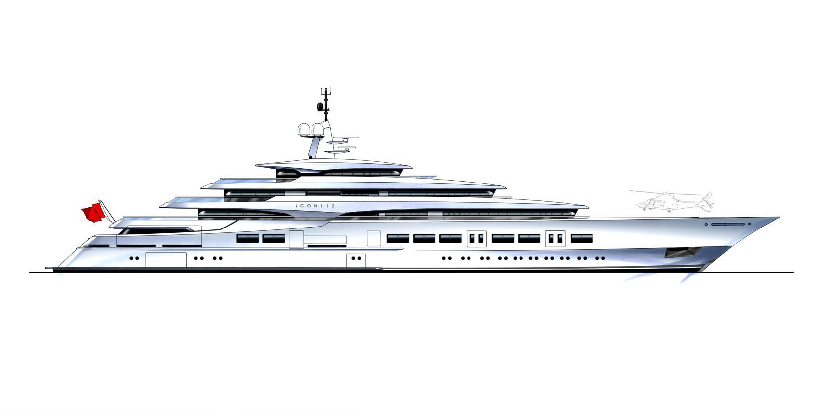 Naval Architect Drawing Of A Superyacht Yacht Design Super