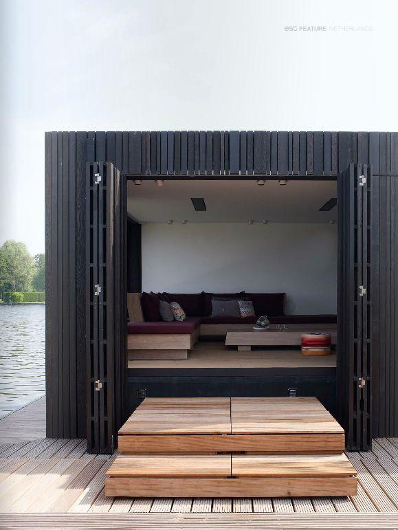 Dutch houseboat via est magazine